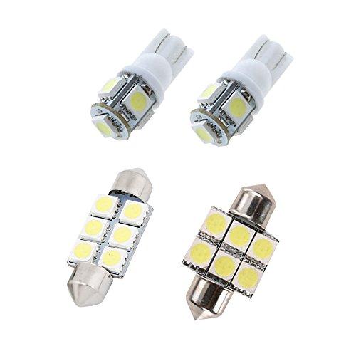 Muchkey Ampoules de Voiture Lampe pour IX35 LED Canbus sans Erreur Voiture Lampe D'immatriculation Lumières Lampes Remplacement Blanc 4pcs