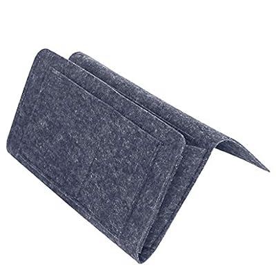 Material de alta calidad: hecho de fieltro gris grueso hace que este bolsillo de noche sea más duro y no se resbale fácilmente en la cola con objetos pesados. Material de fieltro ligero impermeable, antisuciedad, resistente al desgaste. Diseño elegan...