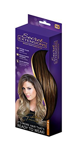 Secret Extensions - Hair Extensions by Daisy Fuentes, As Seen on TV, Light Brown by Secret Extensions