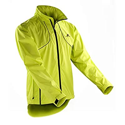 ActivRunner Performance High Visibility Running and Cycling Jacket, Lightweight, Windproof, Waterproof, Reflective. For Men and Women