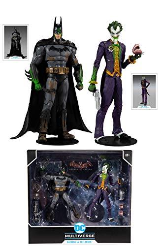 McFarlane DC Multiverse Batman Arkham Asylum - Batman y Joker (Variante) 7 Pulgadas Figura de acción 2 Unidades, 15452-8