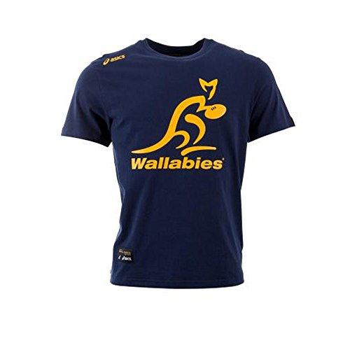 Wallabies Logo Tee Navy 14/15 Australia Asics TG. XL Navy