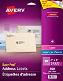 Avery Clear Shipping Labels with Easy Peel for Laser and Inkjet Printers, 2""