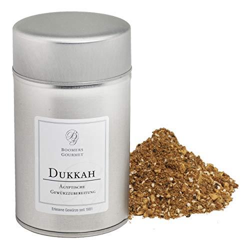 Boomers Gourmet - Dukkah I Dukka I Ducca Gewürz - Ägyptische Gewürzmischung, orientalisch lecker nach Ottolenghi - Gewürzdose 11,5 cm - 150 g