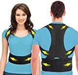 Cipzi Posture Corrector Shoulder Back Support Belt Posture Corrector Therapy Shoulder Belt for Lower and Upper Back Pain Relief for Men and Women (Magnetic)