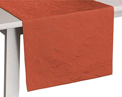 Pichler CORDOBA_050/150_TC hochwertig und bügelfrei - Gedeckläufer 50 x 150 cm terracotta