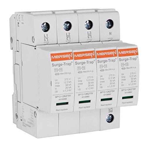 Mersen Überspg.-Ableiter Typ 1+2 STPT12-12K275V-4P 12,5kA Uc275V 4+0TNS Überspannungsableiter für Energietechnik/Stromversorgung 8435297851592