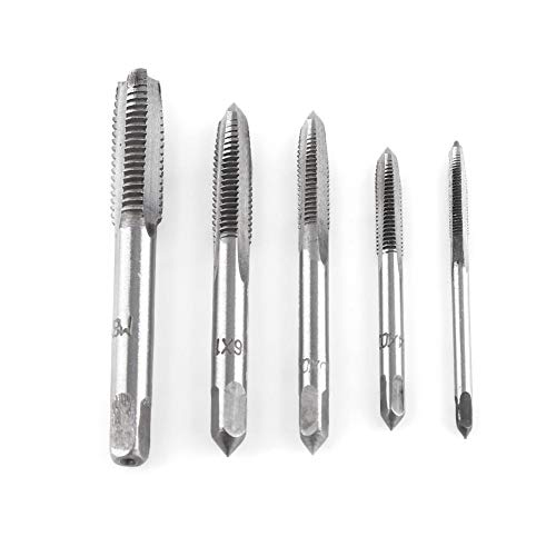 Tap & Die, Hand Thread Tap, Thread Taps Straight Flute Tapping Hand Tap Tool Set for M3 M4 M5 M8 5cps/Set