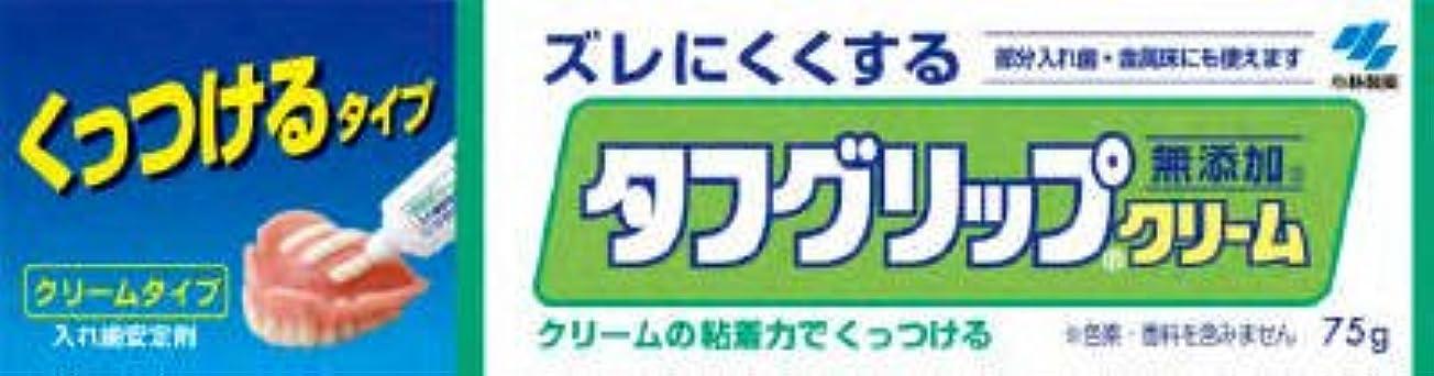 一握り衝動過ち小林製薬 タフグリップクリーム 75g(入れ歯安定剤)×72点セット (4987072005385)