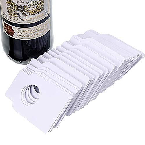 Srup 100 Pièces Étiquette de Cave à Vin, Étiquettes de Bouteille de Vin, Étiquettes pour Bouteille de Vin, Utilisées pour Marquer Les Étiquettes de Bouteille de Vin, Organisation à la Maison