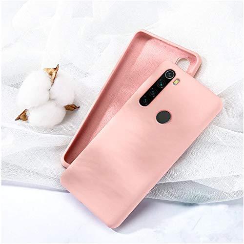 Capa Silicone Macio Xiaomi Redmi Note 8 Forro Interno - Rosa