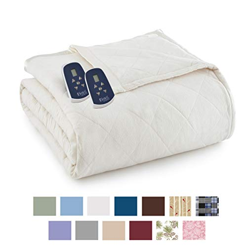 Thermee Micro Flannel Electric Blanket, Sand, King