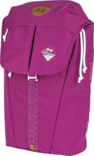 """Nitro Cypress sportiver Daypack Rucksack für Uni & Freizeit, Streetpack mit gepolstertem 15"""" Wide Laptopfach & Seesacktunnelverschluss, Überschlagdeckel, Grateful Pink, 28 L"""