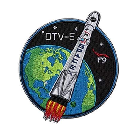 Parche bordado termoadhesivo con diseño de espacex OTV 5 Mission Patch