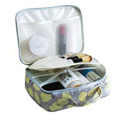 Cadialan Neceser de viaje con impresión portátil, bolsa de almacenamiento portátil para viajes de negocios, acabado A, gris, S1,
