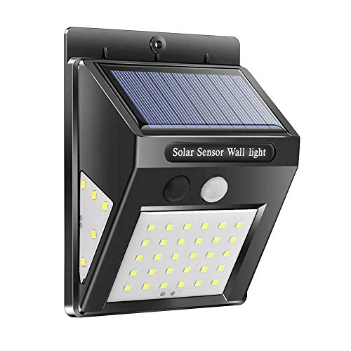 Harwls 40LEDs Solar Wall Light Three-Sided Illumination Garden Motion Sensor Lamp