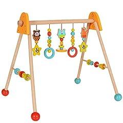 LCP Kids Baby Play Bow Houten Trapeze, Opknoping Speelgoed hoogte verstelbaar *