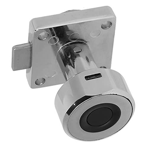 Cerradura sin llave, práctica cerradura de puerta con interfaz de carga USB para cajones para puertas de gabinetes
