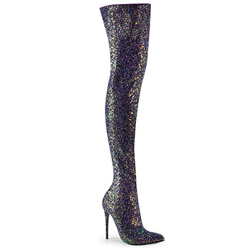 Pleaser Women's Courtly-3015 Thigh-high Boot