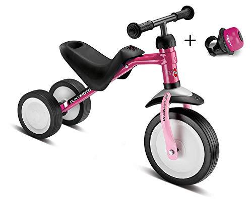 Laufrad PUKYmoto Berry/Rose, ab 1 1/2 Jahre, lern - Laufrad, Dreirad inkl. Klingel / Drehglocke