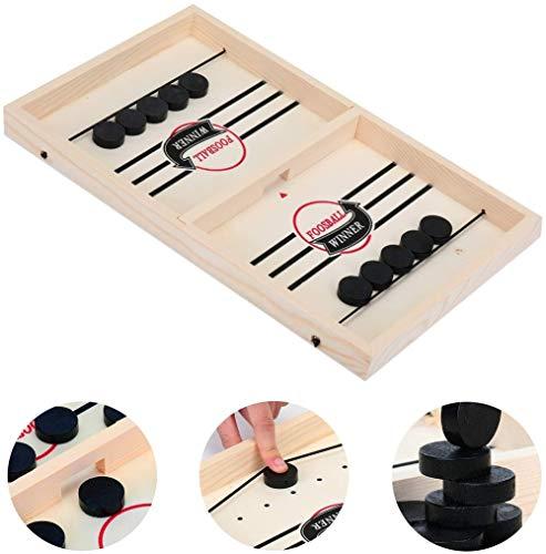 XJBQ Schnelles Sling Puck Spiel Tabletop Spiele schnelles Sling-Puck-Spiel für Kinder/Erwachsene, Stoßfängerschach Winner Board Family Games Toys. (XL(560 * 295 * 28 * 20mm))