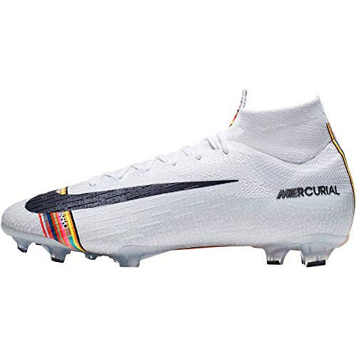 Nike Mercurial Superfly 360 Elite CR7 Level Up FG Soccer Cleats (11.5, Pure Platinum)