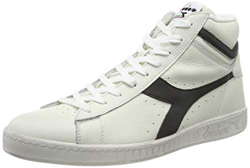 Diadora Unisex High Hi-Top Trainers, White Bianco Nero C0351, 7 Narrow US Women