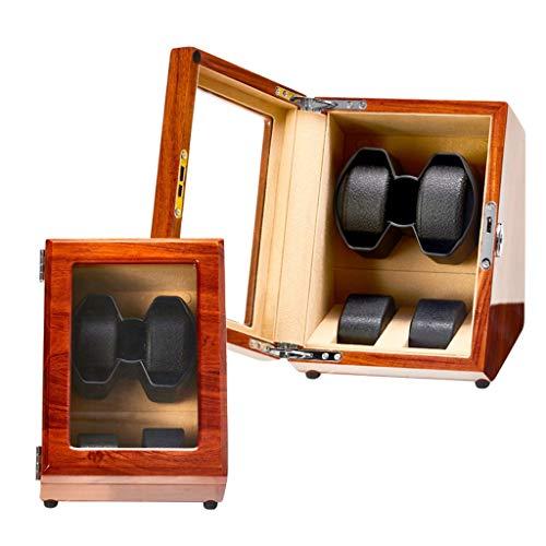 zyy Bobinadora automática de madera para reloj, función de parada automática con almohada retráctil, 5 modos, motor silencioso, 2+0 soportes para relojes caja de bobinado de almacenamiento (color: A)