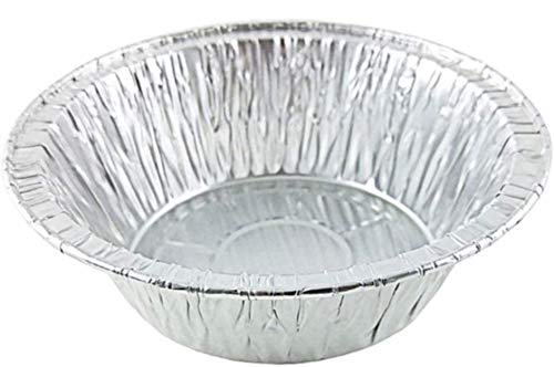 Durable Packaging 5 3/4' Aluminum Foil Deep Meat/Pot Pie Pan Tin 12 Pack - Disposable Containers (Pack of 12)