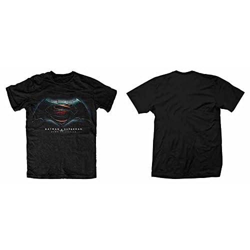 Plastic Head Batman V Superman Dawn of Justice T-Shirt, Nero, Small Uomo