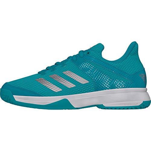 adidas Adizero Club K, Zapatillas de Tenis Unisex niño, Multicolor (Agalre/Plamat/Ftwbla 000), 28 EU