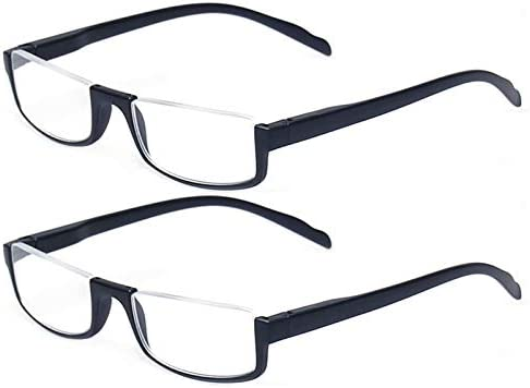 Reading glasses 2 Pair Half Moon Half Frame Readers Spring Hinge Men and Women Glasses 2 Pack product image