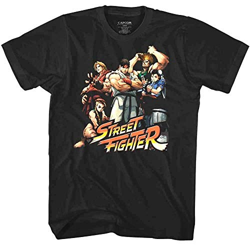 FB Street Fighter 2 Characters Men's T Shirt Cammy Guile Chun-Li Ryu Combat Capcom