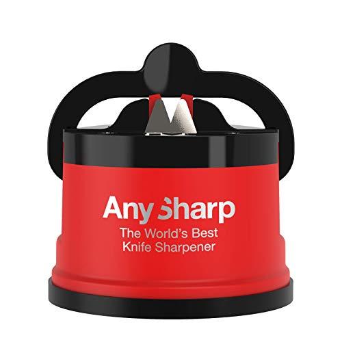 AnySharp Affilacoltelli con Ventosa, Rosso