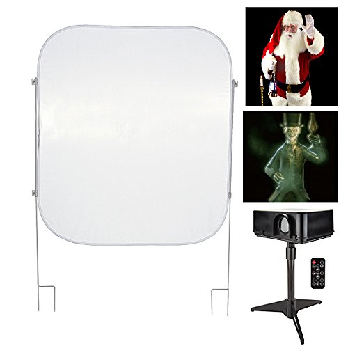 Mr. Christmas - Christmas & Halloween Indoor/Outdoor Virtual Holiday Projector Kit with Pop Up Screen