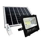 TEMPO DI SALDI Faretto A Led Da 200W Smd Con Pannello Solare Sensore Crepuscolare E Teleco...