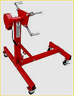 House Deals Engine Stand Heavy Duty Red Rotating 1000 LBS Capacity Motor Stand Cart Mover Automotive Lifting Tools