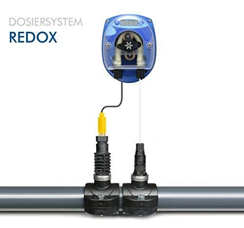 GT SEKO REDOX CHLOR Pool DYNAMIK - Automatische Dosieranlage für Schwimmbäder mit komplettem Zubehör mit 1 x Sauglanze DIN61 x 480 mm für 25 Liter Kanister