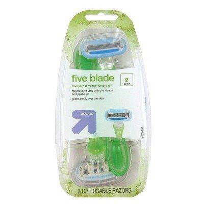 Women's 5 Blade Disposable Razor - 2ct - Up&Up™