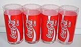Vasos de Cola, retro, 4 x 0,2 litros, originales, Coca-Cola, coleccionables, estilo vintage