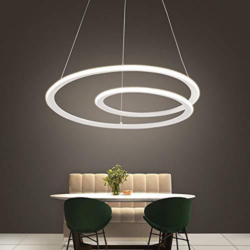 NEWSEE LED Pendelleuchte Esstischlampe Weiß Hängelampe Höhenverstellbar Led Deckenleuchte Arbeitszimmer Lampen Wohnzimmer Küche Esszimmer Led Deckenlampe Esszimmerlampe