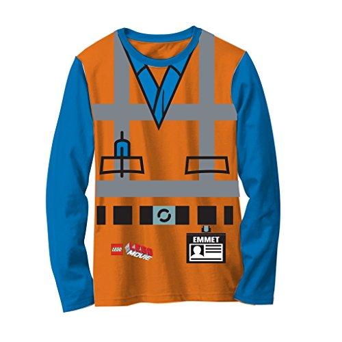 LEGO Movie Emmet Orange Boys Long Sleeve Costume T-Shirt (5/6)
