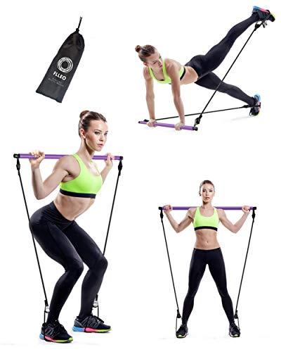 Barra Pilates Fitness Nuova Generazione Portatile Yoga Attrezzo Allenamento Corpo Libero Accessori Casa Set Elastici Kit Palestra Resistenza Brucia Grassi Stretching Tonificazione Glutei Donna Uomo