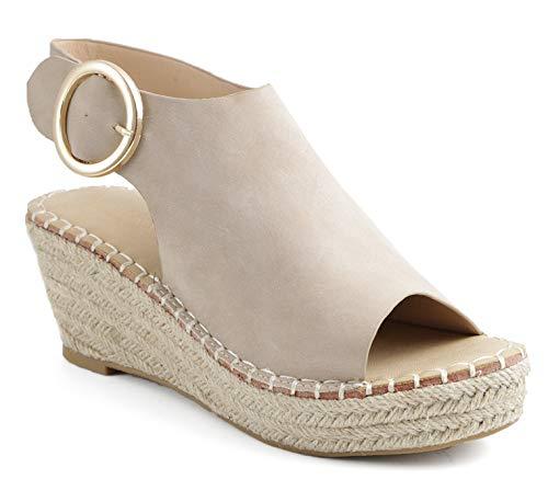 Catherine Malandrino Womens Cirkly Espadrille Wedge Stone Sandal - 8