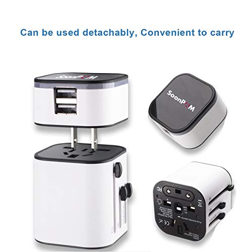 Travel adapter Worldwide All in One Universal Travel Adaptor Wall AC Power...