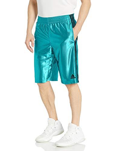 Adidas - Basketball Basic 4 - Pantalones cortos para hombre - F1611BBM196, XL, Energy Blue /Dark Grey
