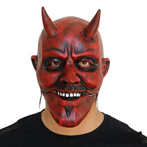 YSAGNZQ Halloween rode duivel masker Grimace mond zal make-up rekwisieten caps zal bewegen grappige Masquerade rekwisieten