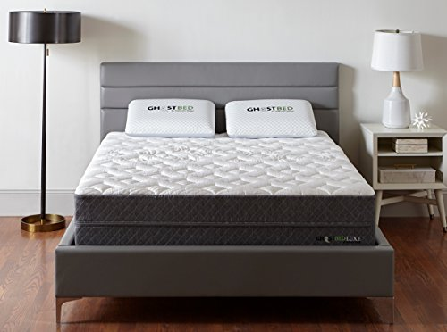 GhostBed Luxe Mattress-King 13 Inch-The Coolest Mattress in the World-Proprietary Ghost Ice Fabric and Ghost Bouncer Layer-Mattress in a Box-Made in the USA–Industry Leading 25 Year Warranty