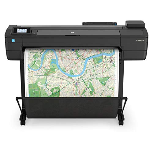 HP DesignJet T730 Large Format Printer, 36' Color Inkjet Plotter, Wireless
