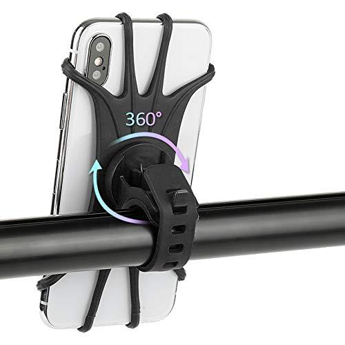 Youfen Handyhalterung Fahrrad,360° Drehbare Universelle Handyhalter Fahrradhalterung Motorrad aus Silikon, für 4,5-6.5 Zoll Handys, für iPhone 11 Pro Max/X/XS/XR/8, Samsung S10/ S10e/ S10 Plus (11cm)